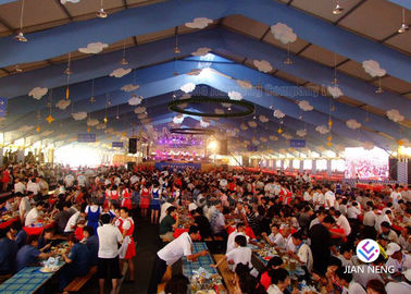 White PVC Party Tent Aluminum Frame Tent For Restaurant Waterproof Canopy Tent
